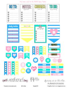 Spring is in the Air Planner Stickers - Free Printable (for MAMBI Happy Planner vertical or similar ones)