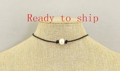 Hey, I found this really awesome Etsy listing at https://www.etsy.com/listing/261404146/40off-leather-pearl-chokerpearl