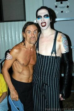 Voodoo Music Experience Day 2 Iggy Pop With Marilyn Manson Backstage Stock Pictures, Royalty-free Photos & Images Marilyn Manson, Rock Bands, Voodoo Music, White Zombie, Ohio, The Stooges, Evan Rachel Wood, Iggy Pop, Cover Songs