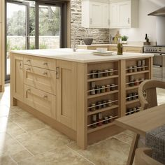 54 Trendy Kitchen Floor Tile With Oak Cabinets Cream Rustic Kitchen, New Kitchen, Kitchen Tips, Kitchen Ideas, Small Open Plan Kitchens, Pictures For Kitchen Walls, Stools For Kitchen Island, Kitchen Islands, Kitchen Layout Plans