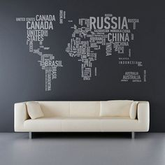 World map but with names instead of maps