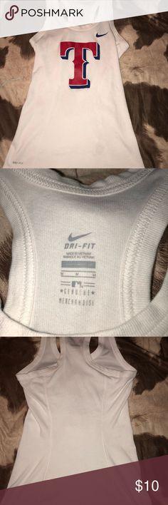 Nike Dri-Fit Texas Rangers Tank Nike Dri-Fit Texas Rangers Tank gently worn size medium Nike Tops Tank Tops