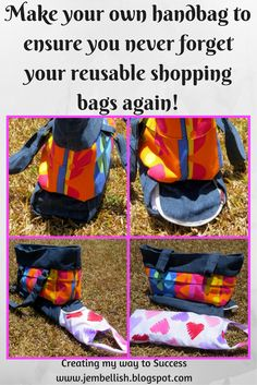 Ebook with tutorials for making this handbag (using a pair of jeans) with a…