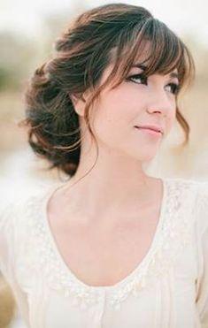 46 Best Wedding Hair Bangs Images Hair Long Hair Styles