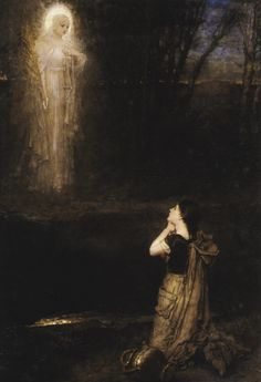 George Henry Boughton (1833-1905), The vision at the martyr's well (sooo gorgeous)