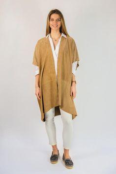 Vent couvert tan janeiro suede cape kimono - Jessimara
