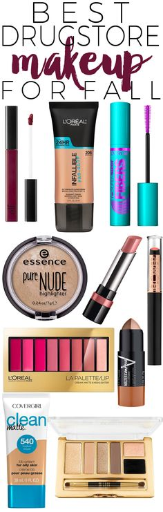 Your favorite drugstores are bursting at the seams with the latest makeup  for fall. If you spend any time browsing the makeup aisle like I do, you  may have noticed a lot of great new seasonal colors, products, and palettes  that you want to try. I've been trying a whole slew of new products to let  you know which new makeup products are worth spending your money on! These  are the top 10 drugstore makeup buys for fall.