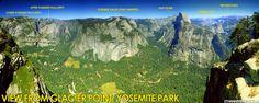 Yosemite map of landmarks