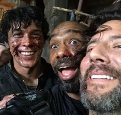Bob Morley, Michael Beach, and Henry Ian Cusick