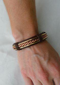 Men's+Copper+and+Bronze+Bracelet+Men's+by+ColeTaylorDesigns,+$44.00