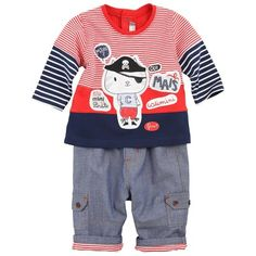 Catamini gets it right with this pirate red/navy outfit!