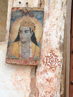 Postcard on the wall - India