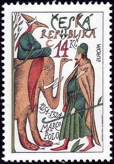 EUROPA 1994: Explorers - Marco Polo #Phelately Postage Stamp Art, Collage Techniques, Marco Polo, Vintage Stamps, Writing Paper, Art Studies, Stamp Collecting, Mail Art, My Stamp