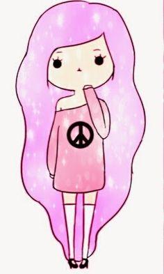 Pastel Goth shared by LuckynumberNana on We Heart It Kawaii Girl Drawings, Cute Cartoon Drawings, Cute Easy Drawings, Cute Cartoon Characters, Cute Cartoon Girl, Oblyvian Girls, Chibi Girl, Kawaii Chibi, Cute Art