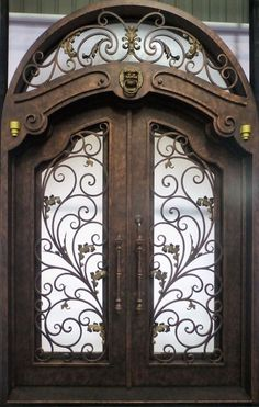 Per square foot. Exceptional Doors - Hand Crafted in 12 Gauge Wrought Iron by Monarch Custom Doors This door, and any other door design is available in any size, or as single or double doors, or doors with sidelights or transoms.