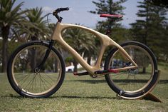 This is the Wooden bike I designed and made for my Industrial Technology Timber HSC Major Project. The bike was made in Newcastle, Australia and the footage . Mountain Bike Accessories, Mountain Bike Shoes, Cool Bike Accessories, Mountain Biking, Wooden Bicycle, Wood Bike, Buy Bike, Bike Run, Bike Rides