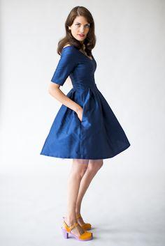 Klänning - Pernilla mörkblå
