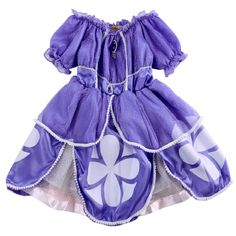 Bling Baby Girls Kids Purple Sofia Costume Princess Party Fancy Dress 2-7 Years Purple Halloween Costume Girls Dresses  Price: 8.07 USD