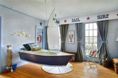 ¡Arriar las velas! Una habitación solo apta para marineros #decoracion #kids #ninos