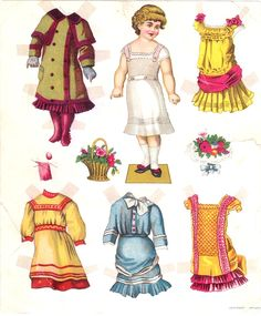 paper doll images   The Paper Collector: Paper doll c. 1880s