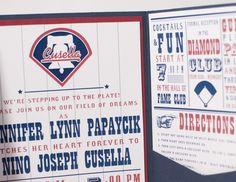 Philadelphia Phillies Baseball Wedding Invitation Suite @Becky Hui Chan Hui Chan Johnson