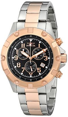 Men's Wrist Watches - Invicta Mens 13617 Specialty Chronograph Black Dial Two Tone Stainless Steel Watch ** You can get additional details at the image link.