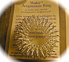 Love this accupressure ring.