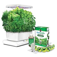 Miracle-Gro AeroGarden Harvest with Gourmet Herb Seed Pod Kit, White -- To view further, visit now : Gardening for Beginners