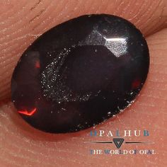 0.30 Cts Natural Ethiopian Welo Fire Black Opal  Faceted Cut Gemstone 351