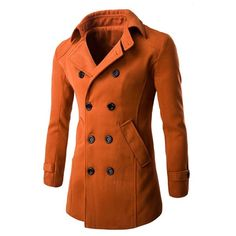 31.72$  Buy here - http://di0j6.justgood.pw/go.php?t=196621004 - Double Breasted Wool Blend Coat in Slim Fit 31.72$