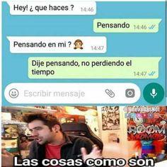 Meme AuronPlay Whatsapp - Thinking not to lose - Textos Humor Español Funny Spanish Memes, Stupid Funny Memes, Funny Texts, Memes In Real Life, New Memes, Memes Humor, Funny Text Messages, Relationship Memes, Really Funny