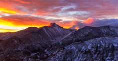 To catch the sunrise, begin at the Bear Lake trailhead in Rocky Mountain National Park. From the trailhead, veer right around bear lake and continue along the Odessa Lake/Flattop Mountain trail.