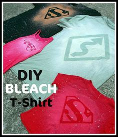 DIY Bleach T Shirt Tutorial | Six Sisters Stuff