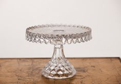 10″ Crystal Round Fostoria Cake Stand