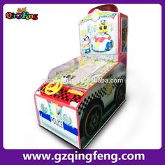 Qingfeng new products Police action kids street racing race car games Redemption machine