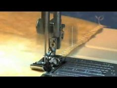 How to use Janome Overedge Foot C - YouTube
