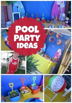Pool Party Themes And Ideas image of pool party themed cakes A Joint Summer Birthday Pool Party