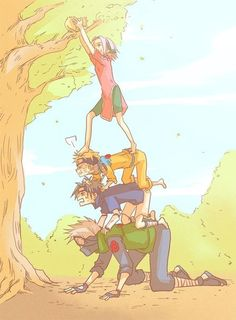 lol, team 7 working together...all of them....Sasuke, sakura, kakashi and naruto