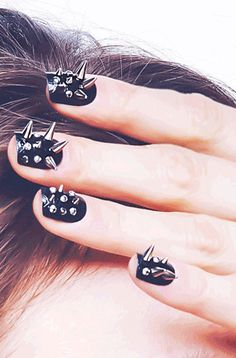 Spiked nails. I could never wear these, but damn they look cool.