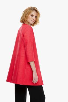 Textured Cotton Coat - LABEL_NEW | Adolfo Dominguez shop online