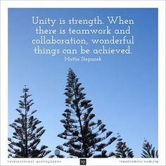Unity is strength - Inspirational Quotograph by Israel Smith. #inspiration #quotes  http://israelsmith.com/iq/unity-strength/