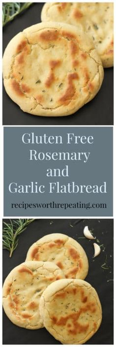 This Gluten Free and Yeast Free Flatbread Pitas is made with fresh Rosemary and Garlic. Perfect substitute for your every day bread and easy to make! Gluten Free Rosemary and Garlic Flatbread Gf Recipes, Dairy Free Recipes, Cooking Recipes, Healthy Recipes, Easy Recipes, Soup Recipes, German Recipes, Vegetarian Recipes, Chicken Recipes