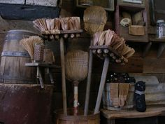 Primitive corn husk broom and sock cat. Update today at Sweet Liberty ...