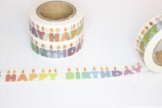 Masking Tape - Masking Tape / Washitape Happy Birthday Kerzen - ein Designerstück von madonner bei DaWanda