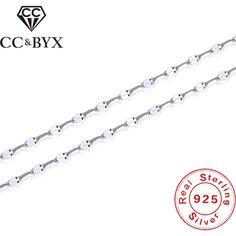 CC Real 925 Silver Tiles Necklace Pendants Chain Women Collana Donna Argento Chocker Necklaces Fashion Accessories Bijoux L-12 #Affiliate