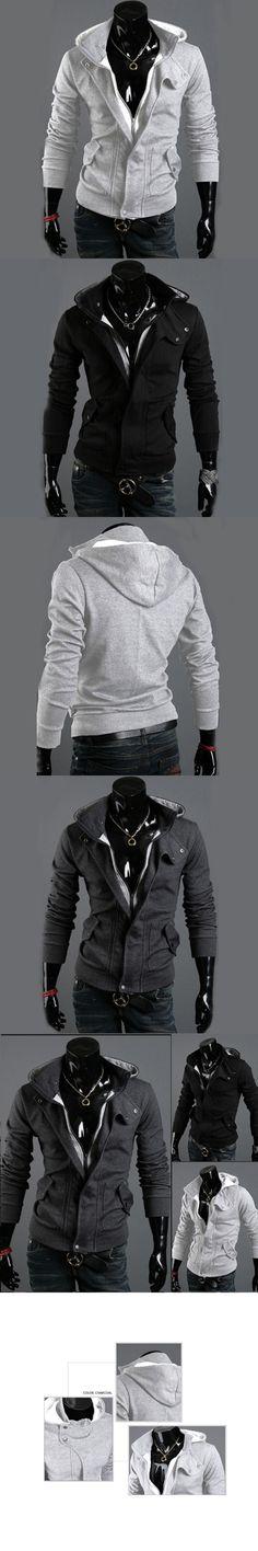 2017 Fashion Coats Men Outwear Mens Special Hoodie Jacket Coat Men Clothes Cardigan Style Jacket 3 Colors Size