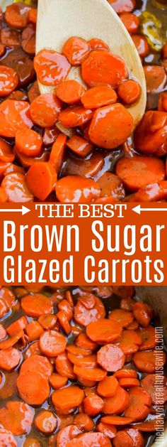 Brown Sugar Glazed Carrots - The Diary of a Real Housewife Brown Sugar Glazed Carrots, Honey Glazed Carrots, Glazed Carrots Recipe Easy, Crockpot Glazed Carrots, Carrots Side Dish, Cooked Carrots, Vegetable Dishes, Vegetable Recipes, Plat Simple