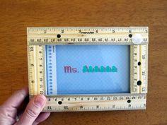 picture frame for teacher