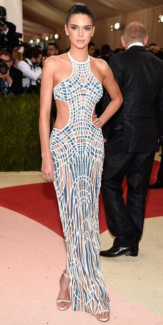 See All the Best Looks from the 2016 Met Gala Red Carpet Kendall Jenner  Kendall Jenner in Atelier Versace.