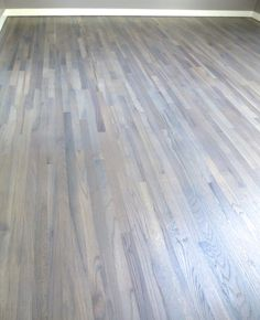red oak stained grey hard-wax
